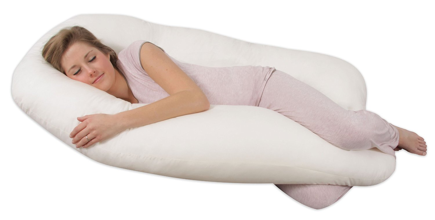 LeachcoSnoogle Total Body Pillow (Best C-shaped pregnancy pillow):