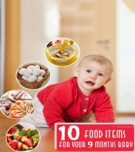 9th month baby food