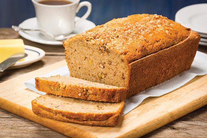 Bread Recipes For Kids - Banana Tea Party Bread