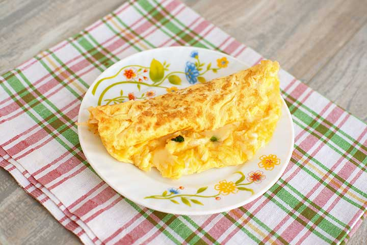 Eggy omelet fingers