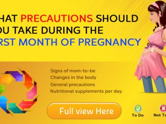 First Month Of Pregnancy: Symptoms, Precautions, And Baby's Development