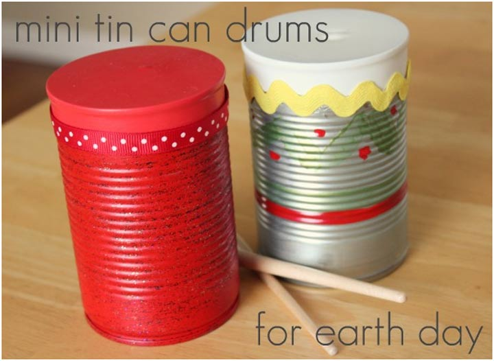Mini Tin Can Drums