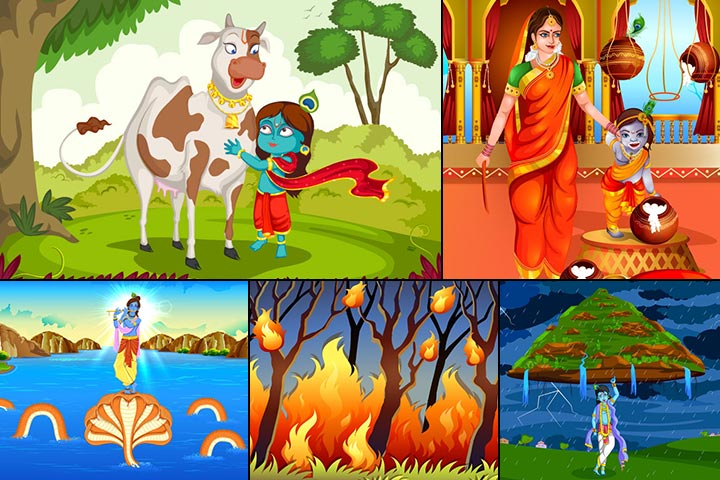 10 Best Lord Krishna Childhood Stories For Kids
