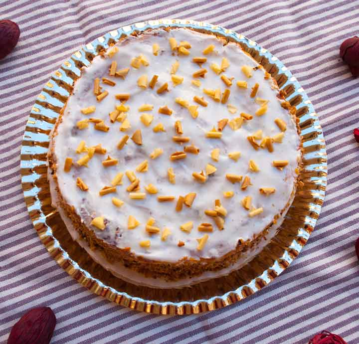 Honey oats cake