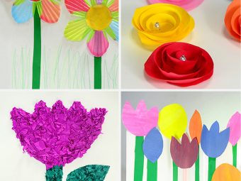 25 Gorgeous Paper Flowers For Kids (Craft Ideas)