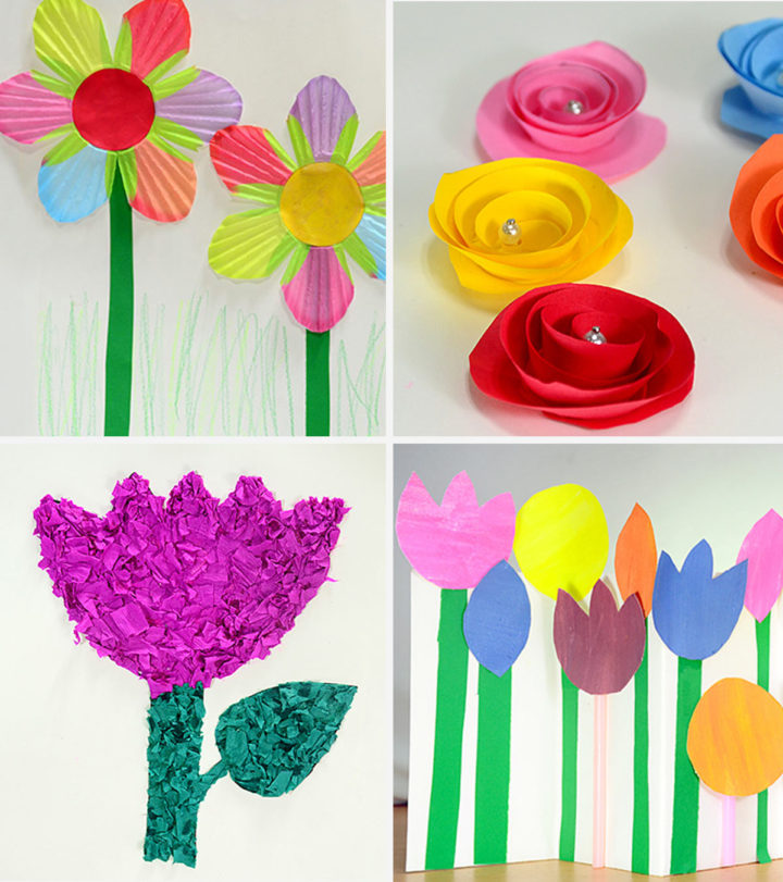 DIY Images Of Paper Flower Making for Kids