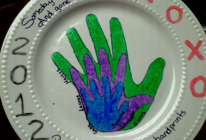 Craft Ideas For Kids With Paper Part - 45: Paper Plate Hand Painting: