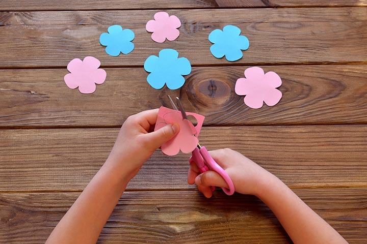 How to make paper flowers for kids 5 petal flower mightylinksfo