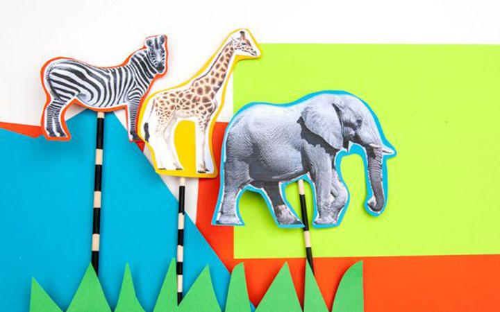 Animal Stick Puppets