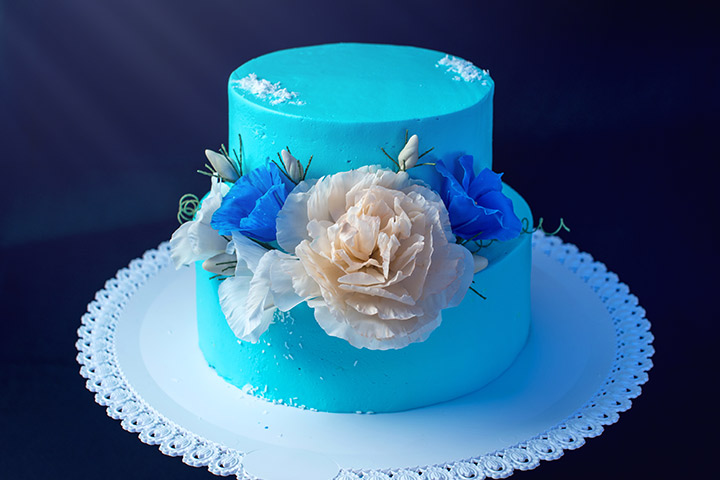 Blue Velvet Cake for Boys Baby Shower