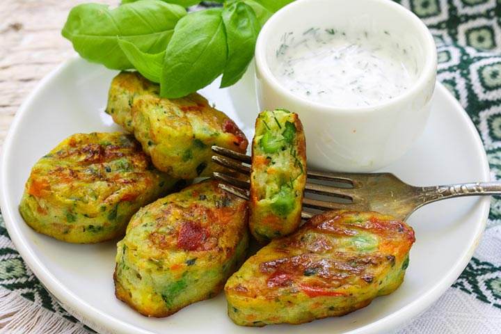 Broccoli and cheese cutlet