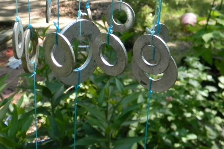Chimes Crafted Out Of Metal Washers