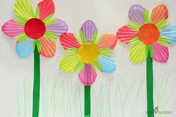 How to make paper flowers for kids colorful cupcake wrapper flowers mightylinksfo