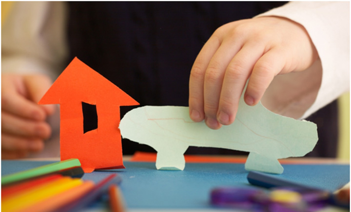 Arts And Crafts Ideas For Kids With Paper Part - 35: Cutting Simple Shapes: