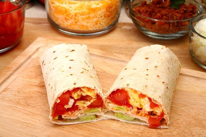 Egg Recipes For Kids - Egg Burrito