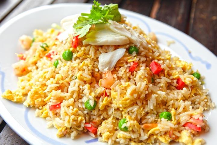 Egg Recipes For Kids - Egg Fried Rice
