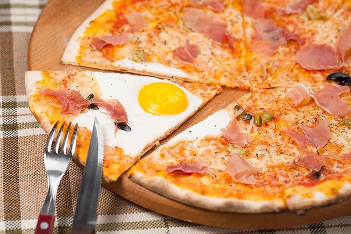 Egg Recipes For Kids - Egg Pizza