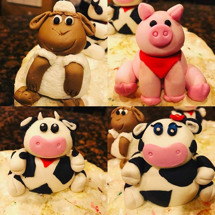 Farm animal toppers