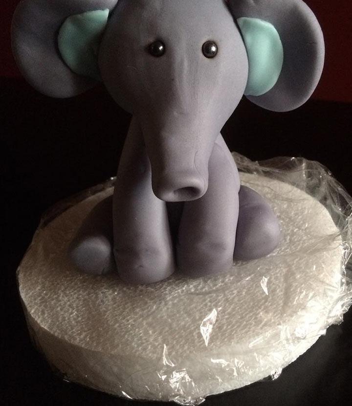 Gray & blue elephant topper