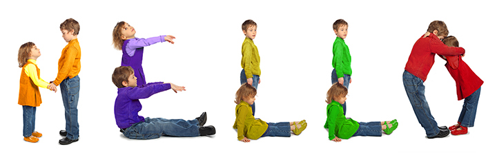 Human Shapes - Team building activities for kids indoor