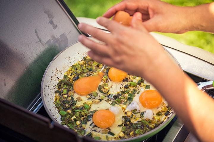 Egg Recipes For Kids - Indian Masala Fried Egg