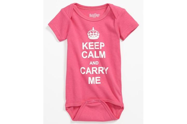 Keep Calm and Carry Me Bodysuit