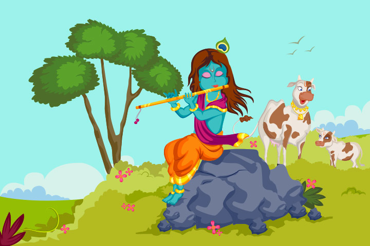 Lord Krishna and the disguised monster