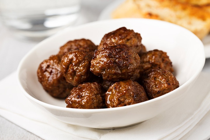 Meat and wheat balls