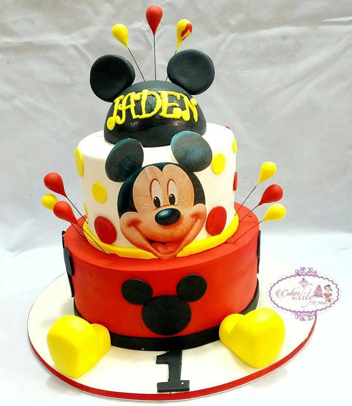 Mickey Mouse First Birthday Cake for Boys