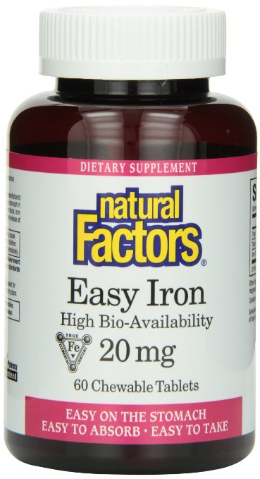 Natural Factors Chewable Tablets 3 - Iron Supplement Pictures