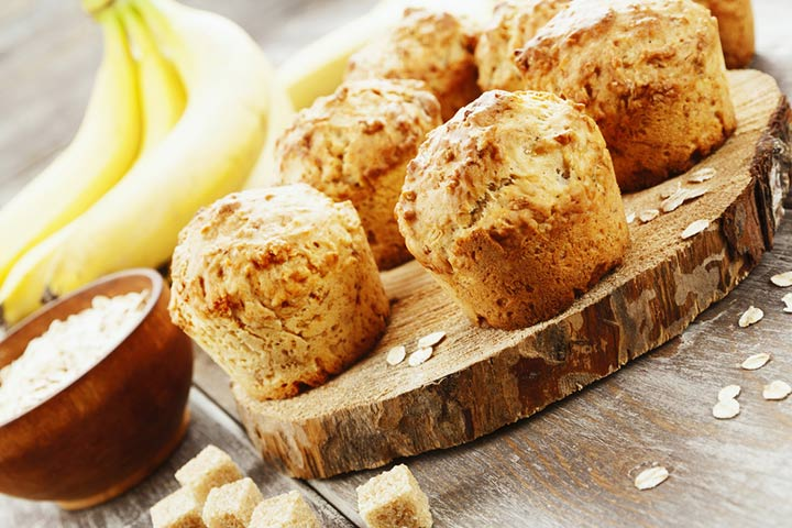 Oats and bananas muffin