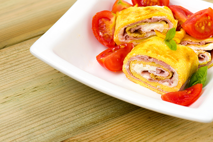 Egg Recipes For Kids - Omelets rolls