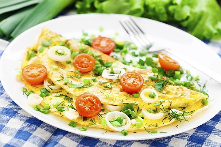 Egg Recipes For Kids - Omelette