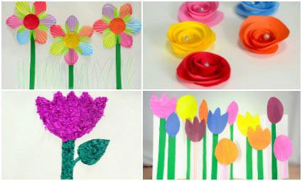 How to make paper flowers for kids incnut incnut incnut featured image mightylinksfo