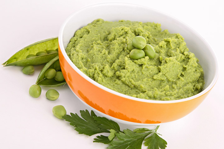 Potato beans and pea puree (evening time)