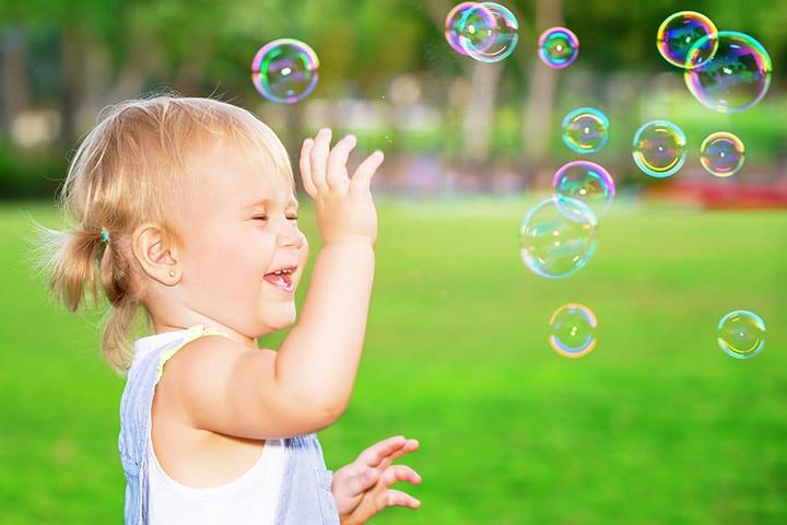 Prick the soap bubbles