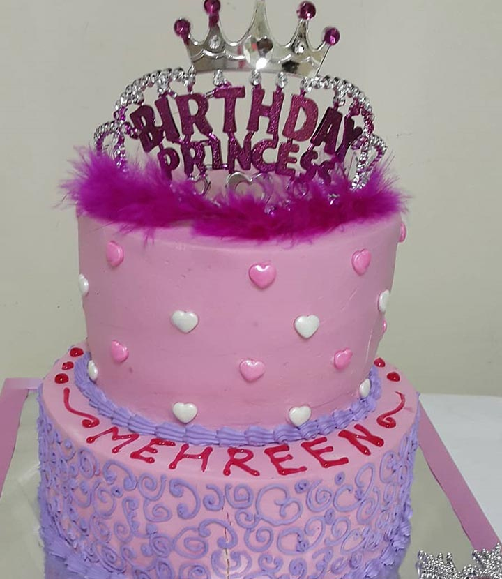 Princess First Birthday Cake For Little Girl