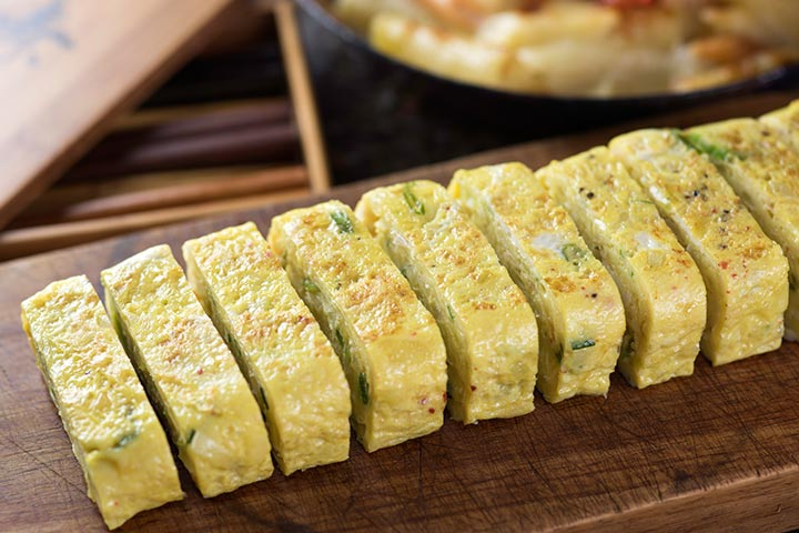 Egg Recipes For Kids - Rolled Up Eggs With Vegetables