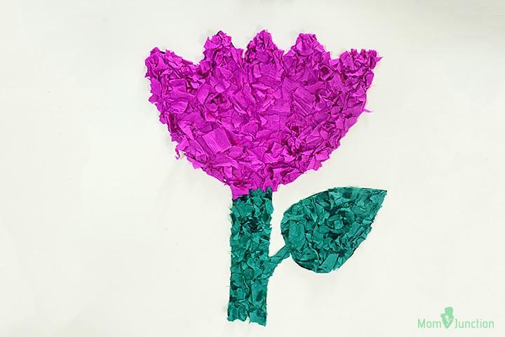 Tissue Paper Tulip Craft Pictures