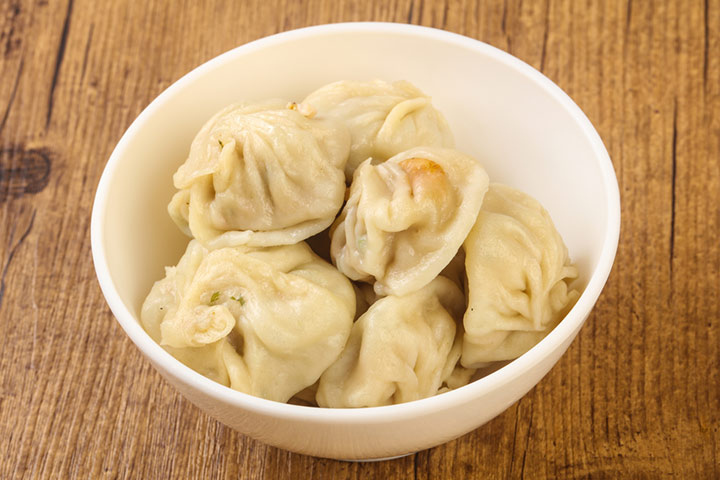 Vegetable and rice momo