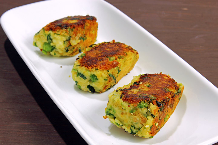 Wheat and peas cutlet