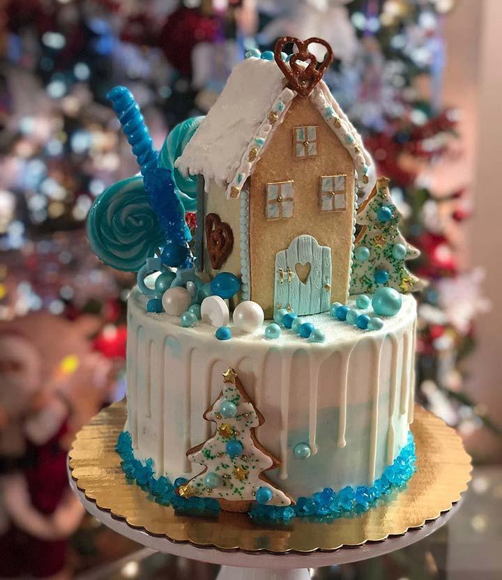 Winter candy cake