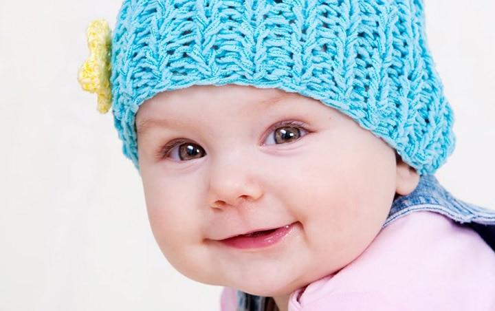 Cute Beautiful Baby Girl Smiling