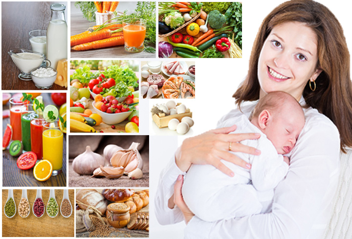 Diets for breast feeding mothers