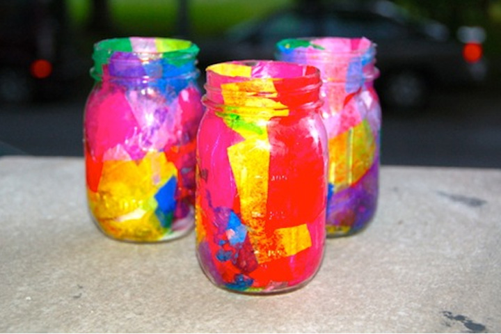 House Craft Ideas For Kids Part - 46: 7. Luminaries Made Out Of Old Jars: