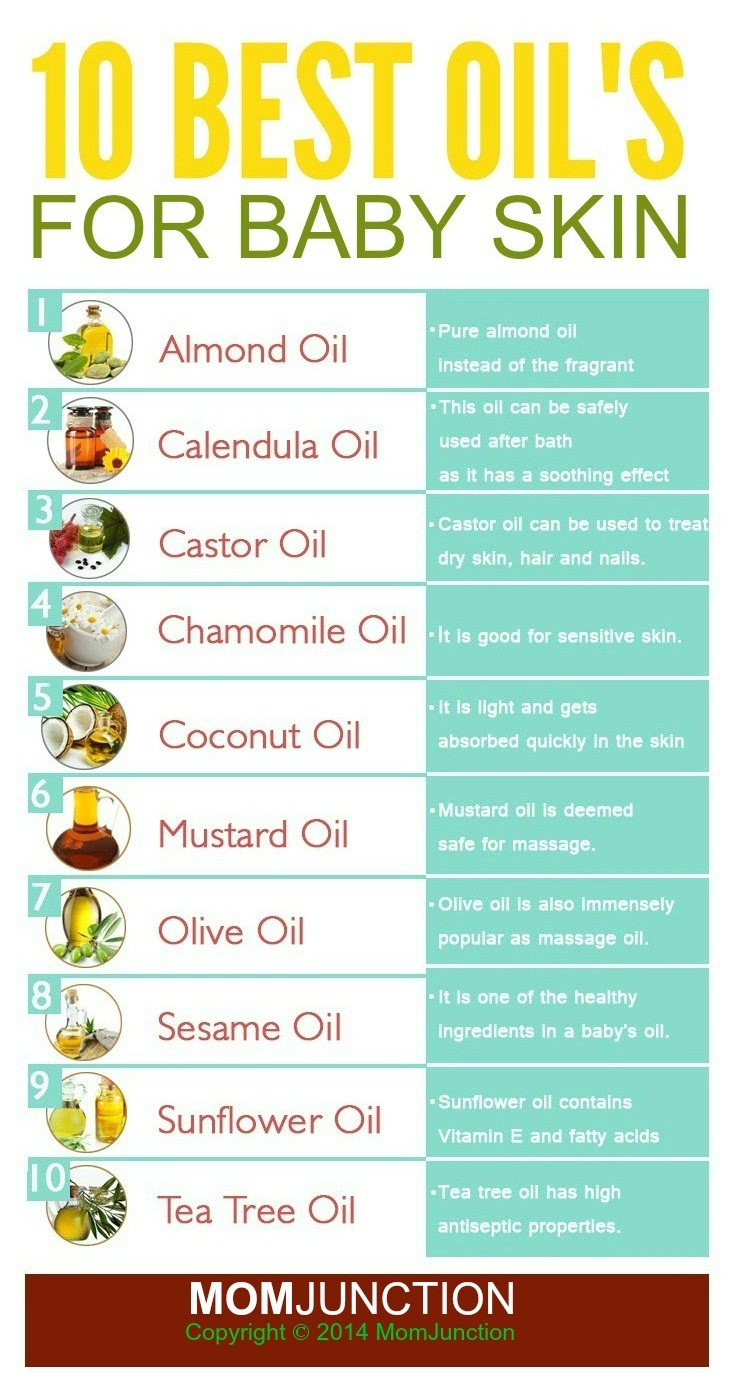 Top 10 baby massage oils know what 39 s best for your baby - The best oils for the skin ...