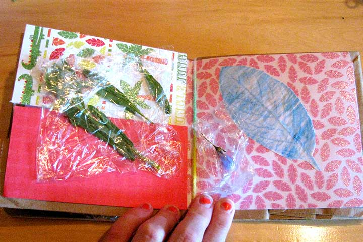 autumn leaf scrap book