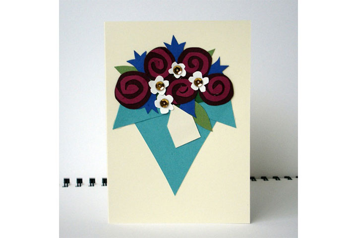 father's day cards featuring flower bouquets