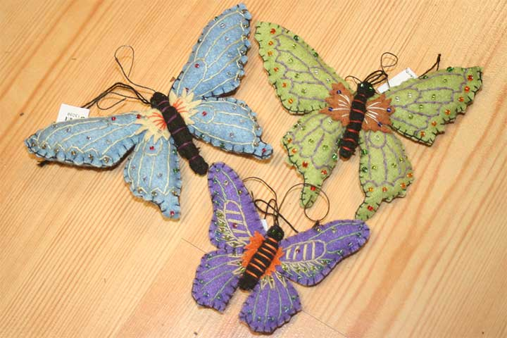 beautiful felt butterflies
