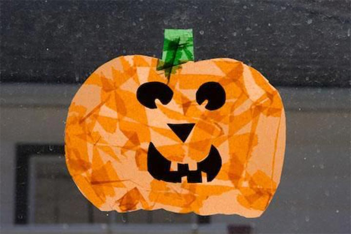 pumpkin with paper napkin
